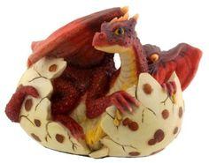 Sculpture: Red Dragon Hatching - Collectible Figurine Statue Sculpture Figure