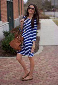 Striped Dress #preppy
