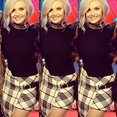 Perrie Edwards in CHIT CHAT Skirt