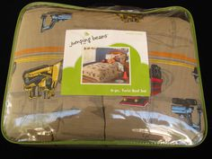 Jumping Beans 6 Piece Twin Bed Set Work Zone Construction Trucks New