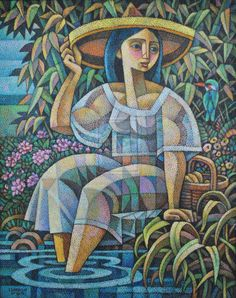 The Lady And The Kingfisher, by Ninoy Lumboy, a Filipino artist