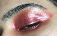 Metallic pink brass eye shadow