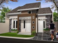 60 Latest Minimalist Home Designs Type 36 2020 Modern Minimalist House, Independent House, Dream Home Design, New Home Designs, House Layouts, Types Of Houses, Exterior Design, Modern Architecture, Building A House