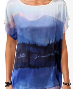 Relaxed Scenic Graphic Top | FOREVER21 - 2031723249