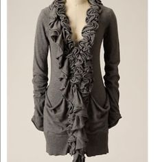 Very awesome chic cardi This cardi is the lighter version than the main picture. I wanted you to see the awesome fit! Boots log awesome with it and even a brown tank with brown heels! Time to get chic!! MOTH Sweaters Cardigans