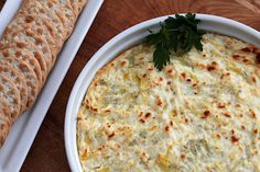 Goat Cheese and Artichoke Dip  --- yum. recipe looks easy!