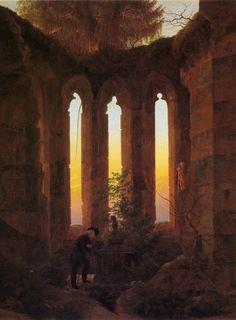 C. D. FRIEDRICH (1774-1840),  Tombeau de Hutten (Huttensgrab), 1823, huile sur toile, Klassik Stiftung Weimar.
