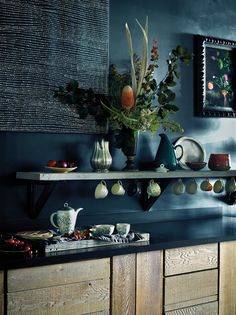 best blue paint colors for kitchen walls