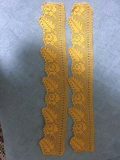 Dentelle feuille jaune gul - Just DIY Crochet Lace Edging, Crochet Leaves, Crochet Borders, Thread Crochet, Love Crochet, Filet Crochet, Lace Knitting, Crochet Doilies, Easy Crochet