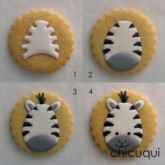 Need these for Zoey Zebra Cookies, Fancy Cookies, Iced Cookies, Cupcake Cookies, Sugar Cookies, Cookies Et Biscuits, Cookies Decorados, Galletas Cookies, Cookie Frosting