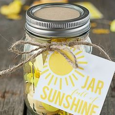 Handmade Gifts - Sunshine in a Jar - The 36th AVENUE