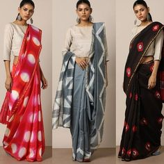 Looking for cotton saree blouse designs? Here are our picks of stylish patterns, chic front neck, & back neck designs you can try with cotton saree blouse! Cotton Saree Blouse Designs, Blouse Neck Designs, Blouse Patterns, Saree Wearing Styles, Saree Styles, Shibori Sarees, Silk Sarees, Organza Saree, Saris