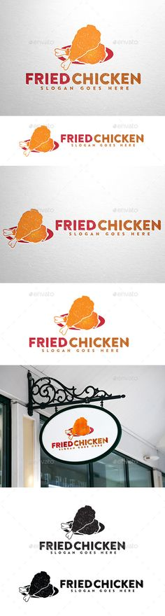 Fried Chicken Logo — Vector EPS #recipe sunrise chicken #illustration • Available here → https://graphicriver.net/item/fried-chicken-logo/10697949?ref=pxcr