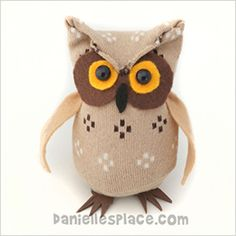 No-sew sock Stuffed owl
