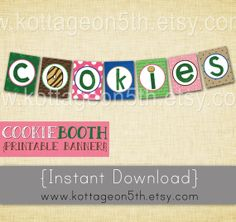 SALE - Scout Cookie Booth Banner - 7 Printable Pages - 8 1/2 x 11 - Easy to Print - Instant Download for your Daisy Brownie Girl!  Love it?  See closer up pics and please help support small business (and fellow Girl Scout Mama) by purchasing this listing at www.kottageon5th.etsy.com.  LOTS more fun GS stuff to choose from, too!  Thank you!