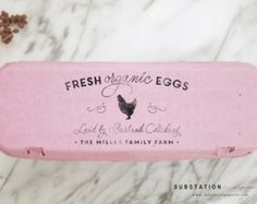 ABOUT THIS PRODUCT These little custom egg stamps are perfect for your little homestead. This is the perfect stamp to give customization to