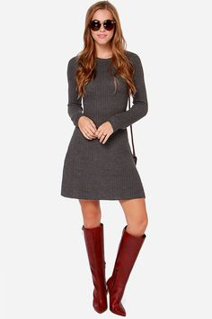 Warm up your wardrobe with a few sweet sweater dresses