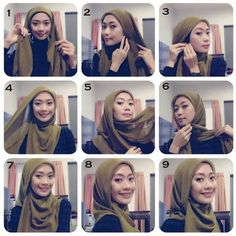 My Hijab  Go to... Home Beauty Life Style DIY Tutorials Hijab Tutorials Hijab Outfit Ideas My Outfit of The Day  Cute 9 Steps Hijab Tutorial