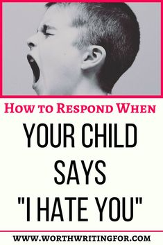 "Has your child ever screamed ""I hate you"" to you? As parents unfortunately, it will happen to most of us. So as the parent, how do you respond? Check out these tips to handle this with grace! Parenting Toddlers, Parenting Advice, Mentally Strong, I Hate You, All Family, Raising Kids, Mom Blogs, Your Child, Told You So"