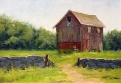 The Farm House by Mark Saenger Oil ~ 9 x 12