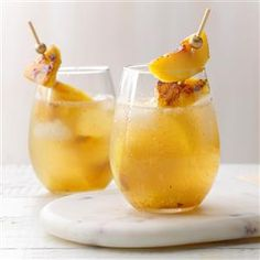 Grilled Peach & Pineapple Sangria Recipe
