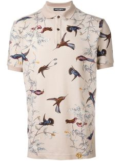 Birds figure prominently in Dolce & Gabanna's new line of posh Polo Shirts. More Fashion Trends, Polo Shirts and trending outfits @ www.pinterest.com/rickysturn/mens-fashion