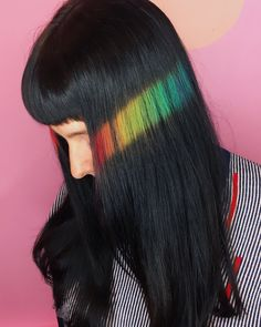 18 Times Hair Colorists Literally Changed The Game *pins pixelated hair SMACK 👏 DAB 👏 in the middle Bold Hair Color, Exotic Hair Color, Poses References, Coloured Hair, Hair Colorist, Dream Hair, Crazy Hair, Rainbow Hair, Grunge Hair