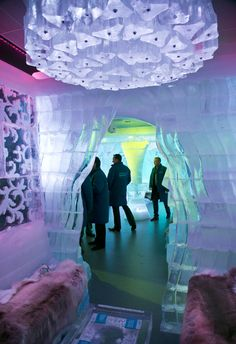 Ice Bar in the New York Hilton Midtown. $20 cover buys you entrance, gloves and a parka.   Fun Fact: This hotel has enough rooms for every man, woman & child from L'Anse to have their own room. With rooms to spare!