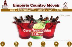 Empório Country Móveis: Balde Gelo em Acrílico - Cerveja,refrigerante,Brah...