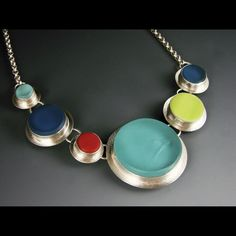 Six Circles Necklace: Amy Faust: Art Glass Necklace | Artful Home