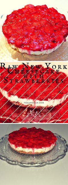 Raw New York cheesecake med jordbærlokk
