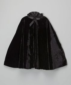Another great find on #zulily! Black Velvet Cape - Infant, Toddler & Girls #zulilyfinds