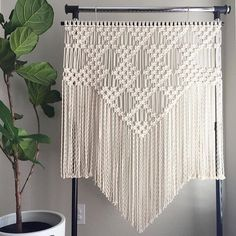 I just listed the pattern for this large Macrame Wall Hanging, remember, all patterns are but 3 and get one free! ✨// YOU GUYS, it's all Square Knots, I mean, could it get any easier? It's about 48 inches in length, but you could always trim it shorter if you wanted. I mention that because I imagine some of you wanting to make this for over your bed. // The Ready-Made piece is also listed. Boom!