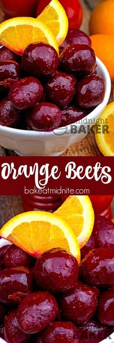 Jazz up your beets with tangy orange! Replace canned beets with fresh. Beet Recipes, Vegetable Recipes, Cooking Recipes, Healthy Recipes, Recipies, Roast Recipes, Healthy Breakfasts, Thai Recipes, Smoothie Recipes