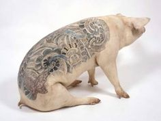 pig tattoo. this ones for you devon