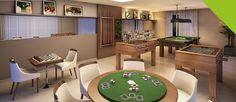 Sede do Clube Indoor Games, Entertainment Room, Cool Rooms, Poker Table, Game Room, Man Cave, Playroom, Interior Design, Basement