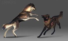 Lets dance by areot on DeviantArt Wolf Images, Wolf Pictures, Cute Fantasy Creatures, Mythical Creatures, Fantasy Wolf, Fantasy Art, Anime Wolf, Cool Sketches, Deviantart