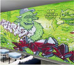 Custom kids wallpaper, painted monster graffiti murals for KTV hotel bar wall waterproof fabric  parede de Papel #Affiliate