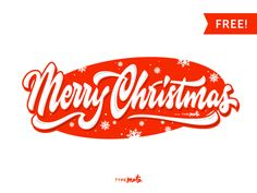 Christmas lettering — free! by Typemate
