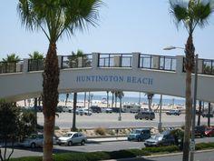 Hyatt Regency Bridge crosses Pacific Coast Highway in Huntington Beach