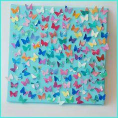 Groepswerk - schilderij met vlinders o.i.d.