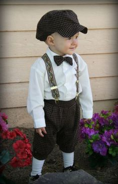 Little Ollie's ring bearer outfit. Although I want it in black I think