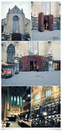 The Selexyz Dominicanen bookstore in Maastricht, the Netherlands is housed in a renovated Dominican church dating back to 1294.