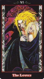 The Vampire Tarot. I have this deck and it's gorgeous.