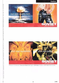 Magazine Print Ad: Fashion Soviet Jeans Humor in Advertising