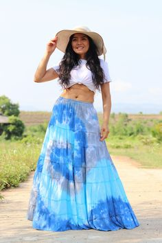 Boho Skirt / Maxi Skirt / Maxi Boho Skirt /Modest Skirt / Beach Skirt /Full Length skirt / Tie Dye Skirt/ Long Skirt Modest Skirts, Boho Skirts, Beach Skirt, Beach Dresses, Aladdin Pants, Drop Crotch Pants, Hippie Pants, Full Length Skirts, Summer Looks