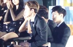 Why find an empty chair when you can sit on Lay hyung's lap?? XD