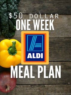 This one week ALDI meal plan comes in under $50, includes a grocery shopping list and can easily be gluten-free. Serves a family of four with leftovers! :: DontWastetheCrumbs.com