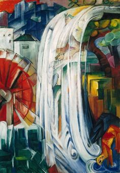 the bewitched mill - franz marc - 1913 - art institute of chicago