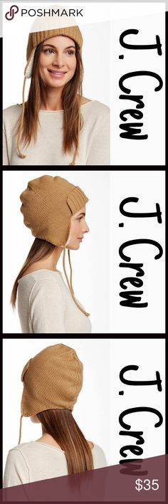 J.Crew Beanie Trapper Hat NEW WITH TAGS RETAIL PRICE: $50  J.Crew Beanie Trapper Hat   * Cable Knit Cuff   * Long Tassel details  * Super soft & cozy yet lightweight   * Knit construction & fleece lined  * Ear flaps   * Hand wash recommended   Material: Acrylic, wool, & nylon, lining-polyester Color: Tan combo Item#:   No Trades ✅ Offers Considered*✅ *Please use the blue 'offer' button to submit an offer J. Crew Accessories Hats